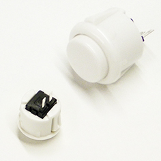 Bouton Arcade Clipsable 24mm Blanc