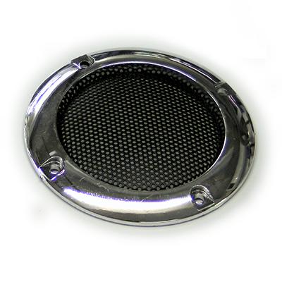 grille aspect chrom pour haut parleur de 5cm de diam tre arcademy. Black Bedroom Furniture Sets. Home Design Ideas